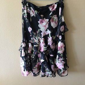 Ralph Lauren Silk Ruffle Skirt